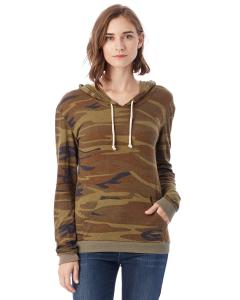 Camo Ladies Eco-Jersey Pullover Hoodie