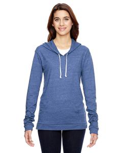 Eco Pacific Blue Ladies Eco-Jersey Pullover Hoodie