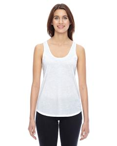White Ladies' Shirttail Satin Jersey Tank