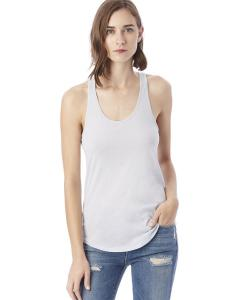 Glacier Blue Ladies' Shirttail Satin Jersey Tank