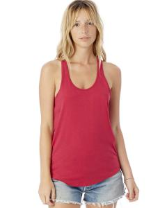 Summer Berry Ladies' Shirttail Satin Jersey Tank