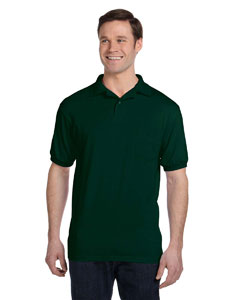 Deep Forest 5.2 oz., 50/50 EcoSmart® Jersey Pocket Polo