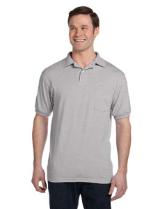 Light Steel 5.2 oz., 50/50 EcoSmart® Jersey Pocket Polo