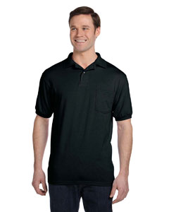 Black 5.2 oz., 50/50 EcoSmart® Jersey Pocket Polo