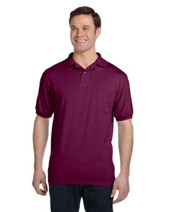 Maroon 5.2 oz., 50/50 EcoSmart® Jersey Pocket Polo