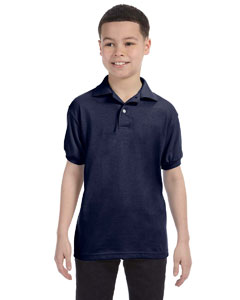 Deep Navy Youth 5.2 oz., 50/50 ComfortBlend® EcoSmart® Jersey Knit Polo