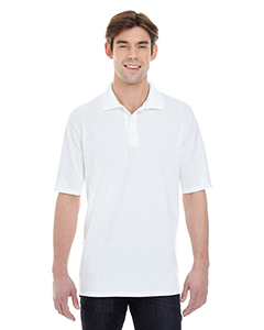 White Men's X-Temp Piqué Short-Sleeve Polo with Fresh IQ