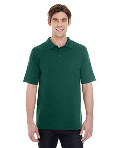 Deep Forest Men's X-Temp Piqué Short-Sleeve Polo with Fresh IQ