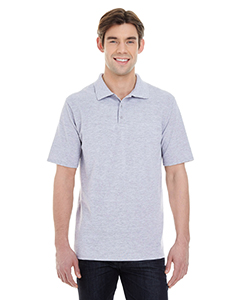 Light Steel Men's X-Temp Piqué Short-Sleeve Polo with Fresh IQ