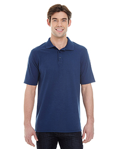 Navy Men's X-Temp Piqué Short-Sleeve Polo with Fresh IQ