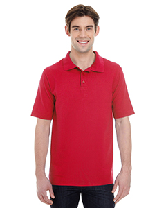 Red Men's X-Temp Piqué Short-Sleeve Polo with Fresh IQ