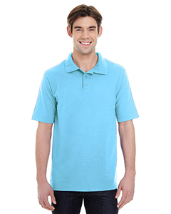 Blue Horizon Men's X-Temp Piqué Short-Sleeve Polo with Fresh IQ