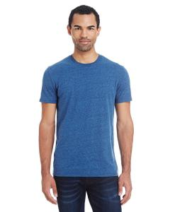 Royal Blk Trblnd Unisex Triblend Short-Sleeve Tee