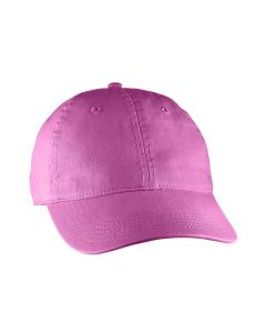 Raspberry Direct-Dyed Canvas Baseball Cap