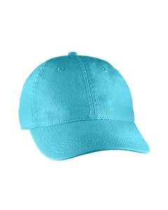 Lagoon Blue Direct-Dyed Canvas Baseball Cap