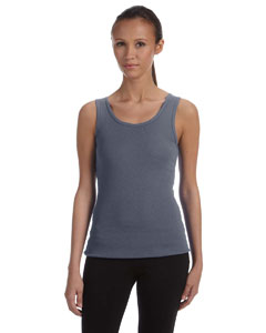 Deep Heather Women's Baby Rib Tank
