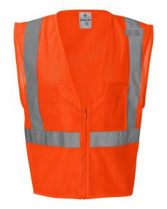 Orange Ultra-Cool™ Mesh Vest with Pockets