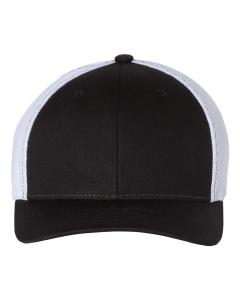 Black/ White Fitted Trucker with R-Flex