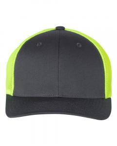 Charcoal/ Neon Yellow Fitted Trucker with R-Flex