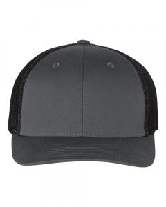 Charcoal/ Black Fitted Trucker with R-Flex
