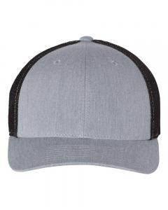 Heather Grey/ Black Fitted Trucker with R-Flex