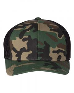 Army Camo/ Black Fitted Trucker with R-Flex