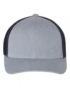 Heather Grey/ Navy Fitted Trucker with R-Flex