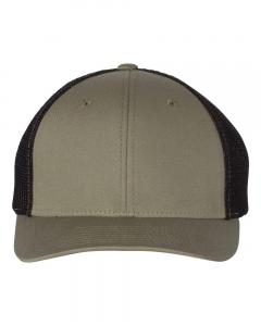 Loden/ Black Fitted Trucker with R-Flex