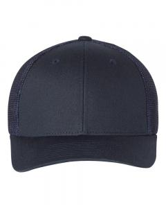 Navy Fitted Trucker with R-Flex