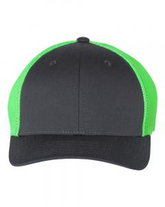 Charcoal/ Neon Green Fitted Trucker with R-Flex
