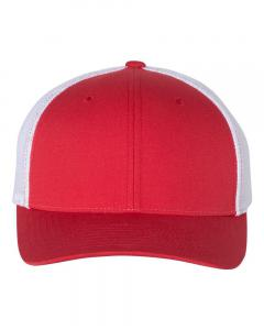 Red/ White Fitted Trucker with R-Flex