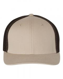 Khaki/ Coffee Fitted Trucker with R-Flex