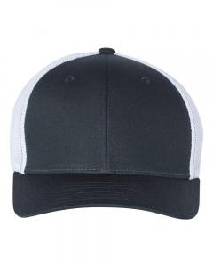 Navy/ White Fitted Trucker with R-Flex