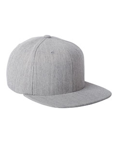 Heather Adult Wool Blend Snapback Cap