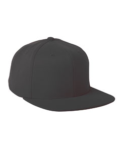 Black Adult Wool Blend Snapback Cap
