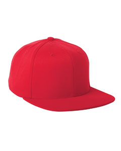 Red Adult Wool Blend Snapback Cap