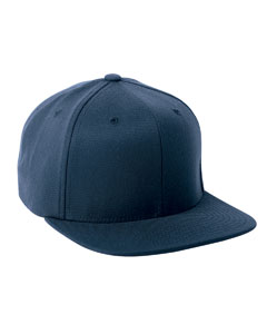 Navy Adult Wool Blend Snapback Cap