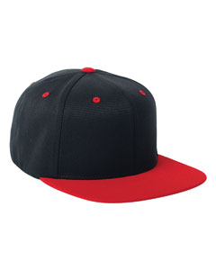 Black/red 110 Wool Blend Two-Tone Cap