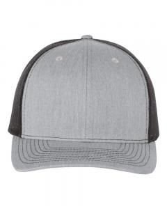 Heather Grey/ Black Trucker Cap