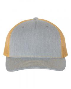 Heather Grey/ Amber Gold Trucker Cap