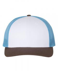 White/ Columbia Blue/ Brown
