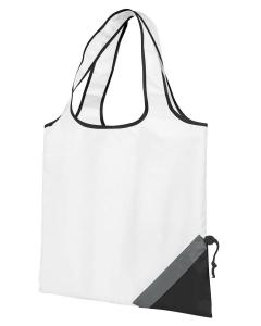 White/ Black Latitiudes Foldaway Shopper Tote
