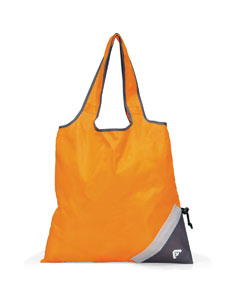 Tangerine Orange Latitiudes Foldaway Shopper Tote