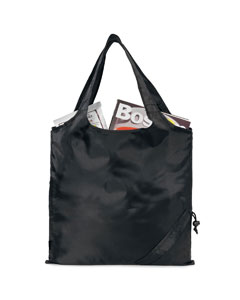 Black Latitiudes Foldaway Shopper Tote