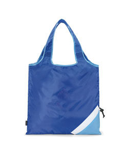 Royal Blue Latitiudes Foldaway Shopper Tote