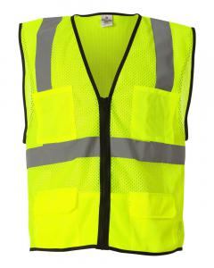 Lime Economy Mesh 6-Pocket Vest