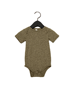 Olive Triblend Infant Triblend Short-Sleeve One-Piece