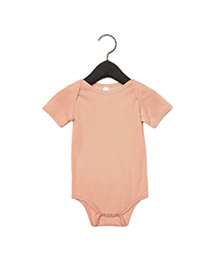 Peach Triblend Infant Triblend Short-Sleeve One-Piece