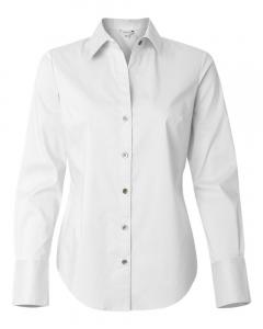 White Women's Cotton Stretch Shirt