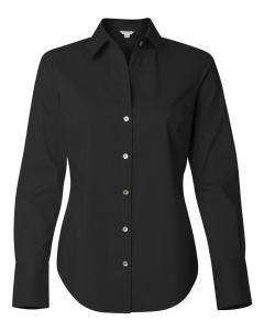 Black Women's Cotton Stretch Shirt